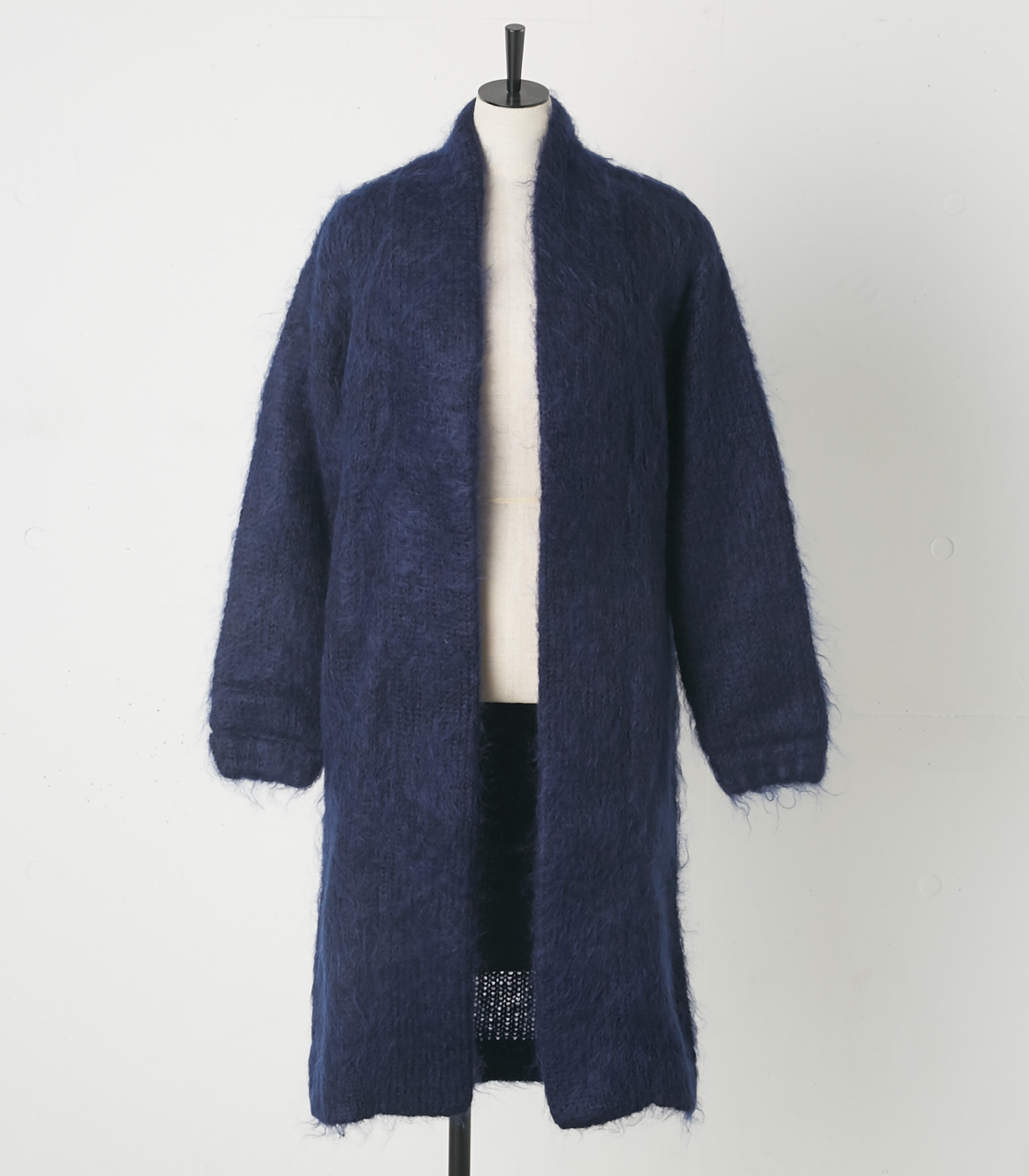 Mix mohair knit coat