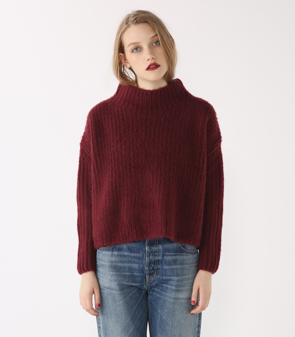 Ragran rib wide knit