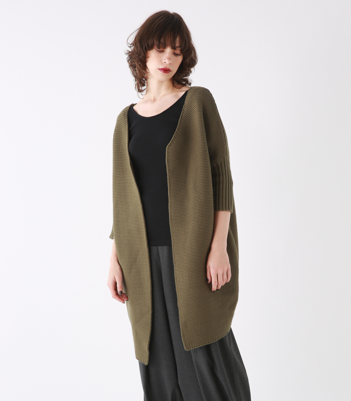 Lily-yarn knit coat