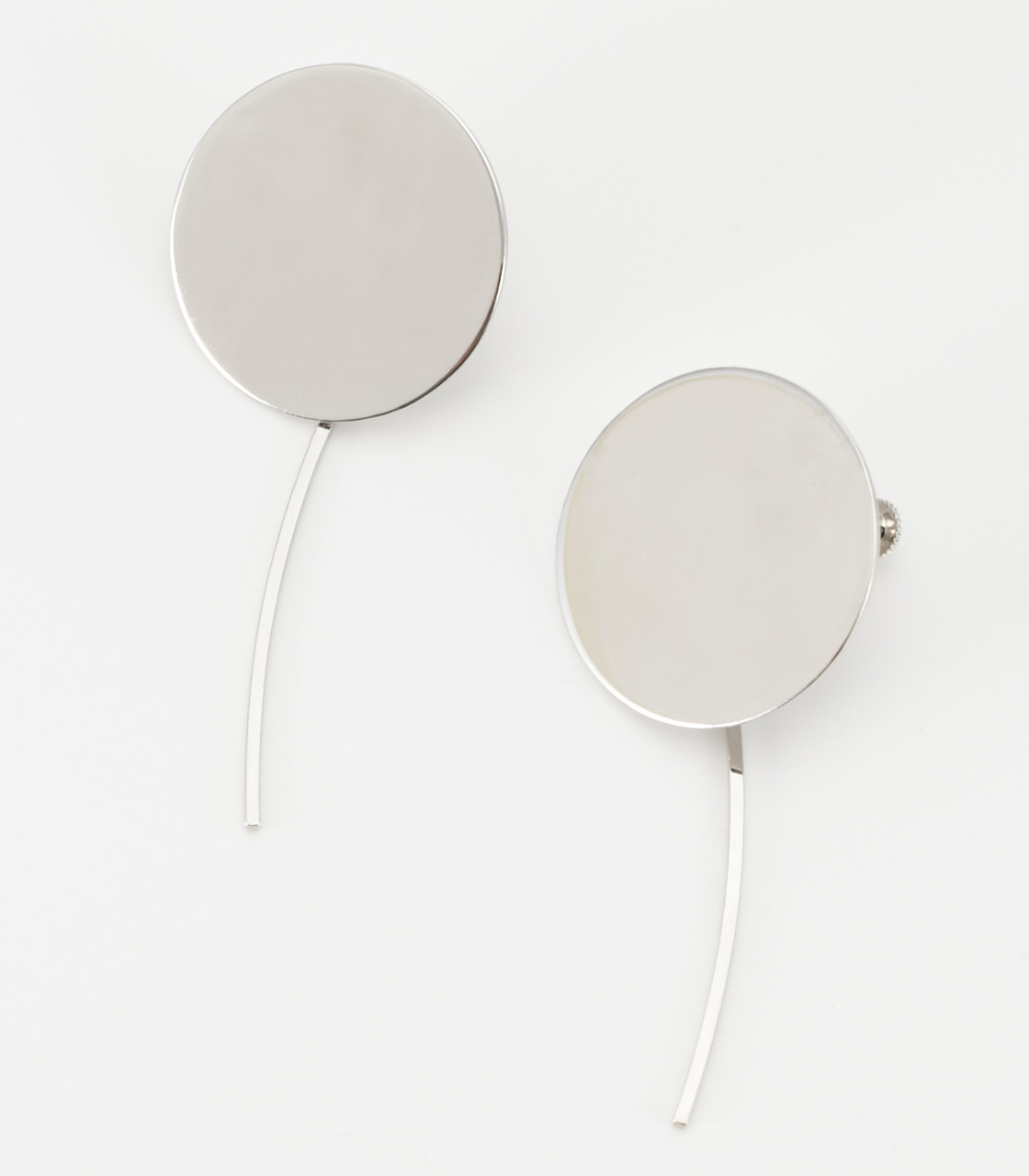 Circle plate earring
