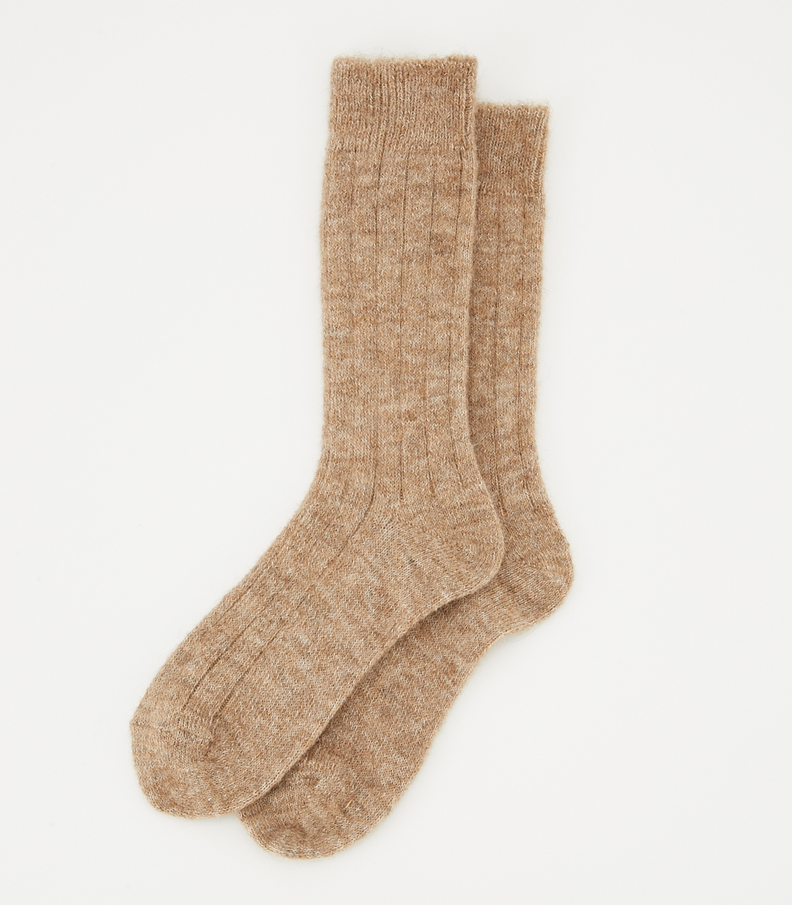 BLACK BY MOUSSY(ブラックバイマウジー) |alpaca mix socks(BEG)