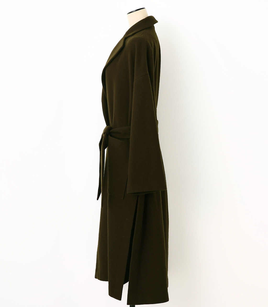 BLACK BY MOUSSY(ブラックバイマウジー) |melton long slit coat