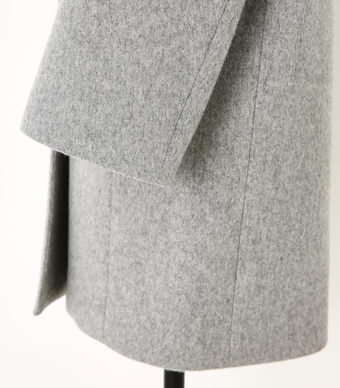 BLACK BY MOUSSY(ブラックバイマウジー) |no collar wool coat