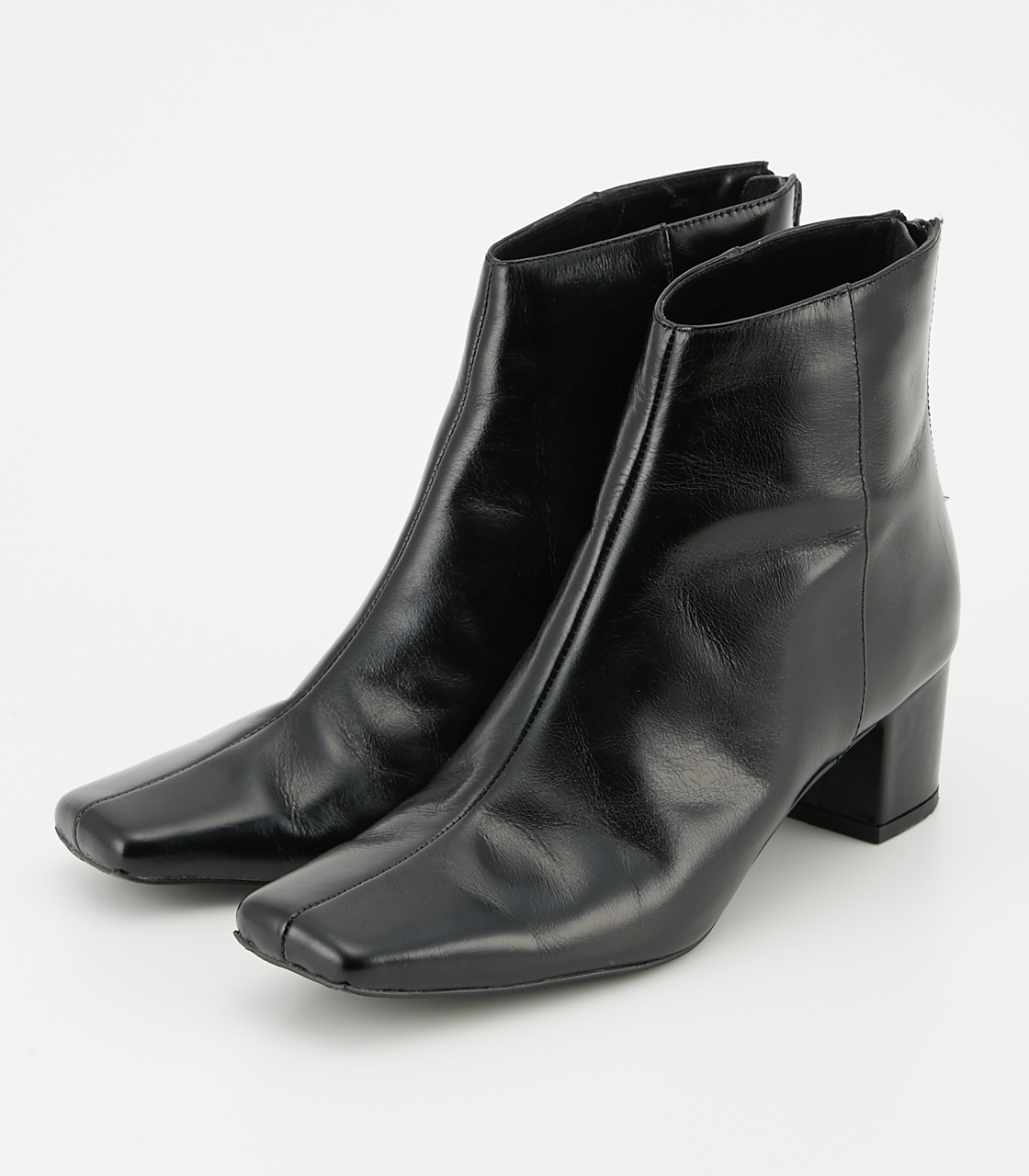 BLACK BY MOUSSY(ブラックバイマウジー) |dewy leather boots(BLK)