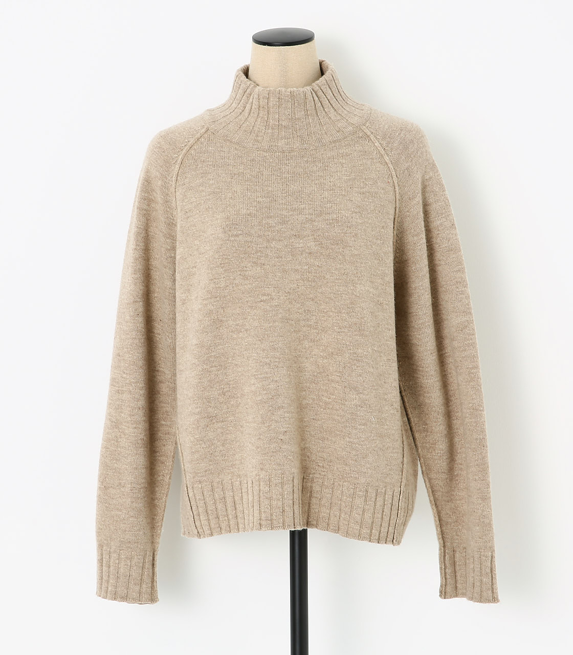 BLACK BY MOUSSY(ブラックバイマウジー) |loose knit tops(BEG)