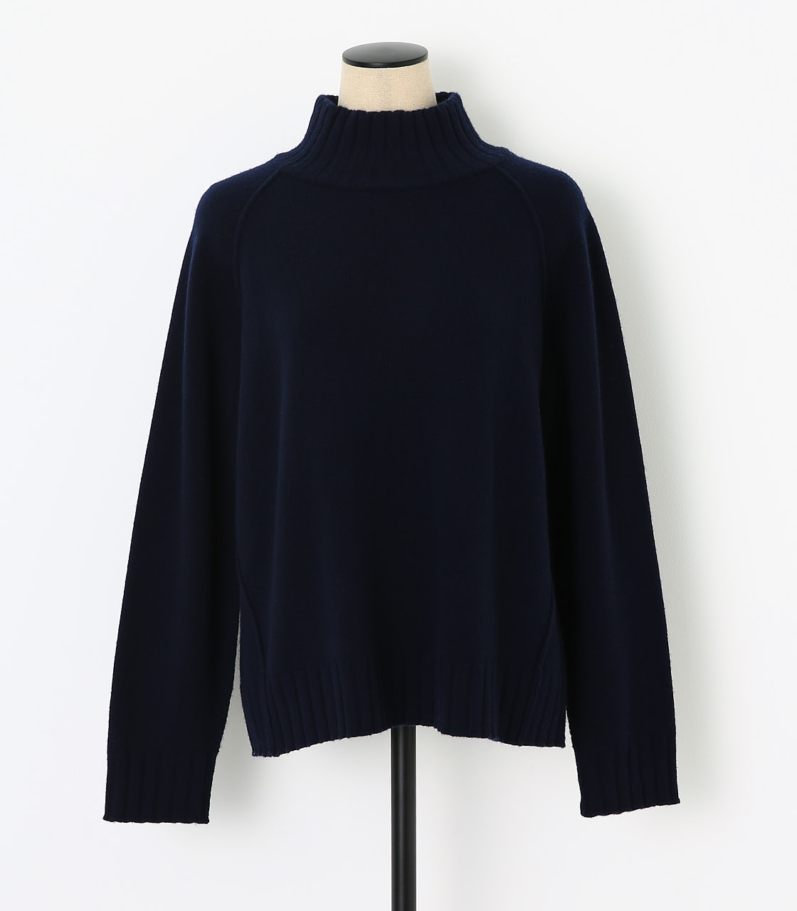 BLACK BY MOUSSY(ブラックバイマウジー) |loose knit tops(NVY)