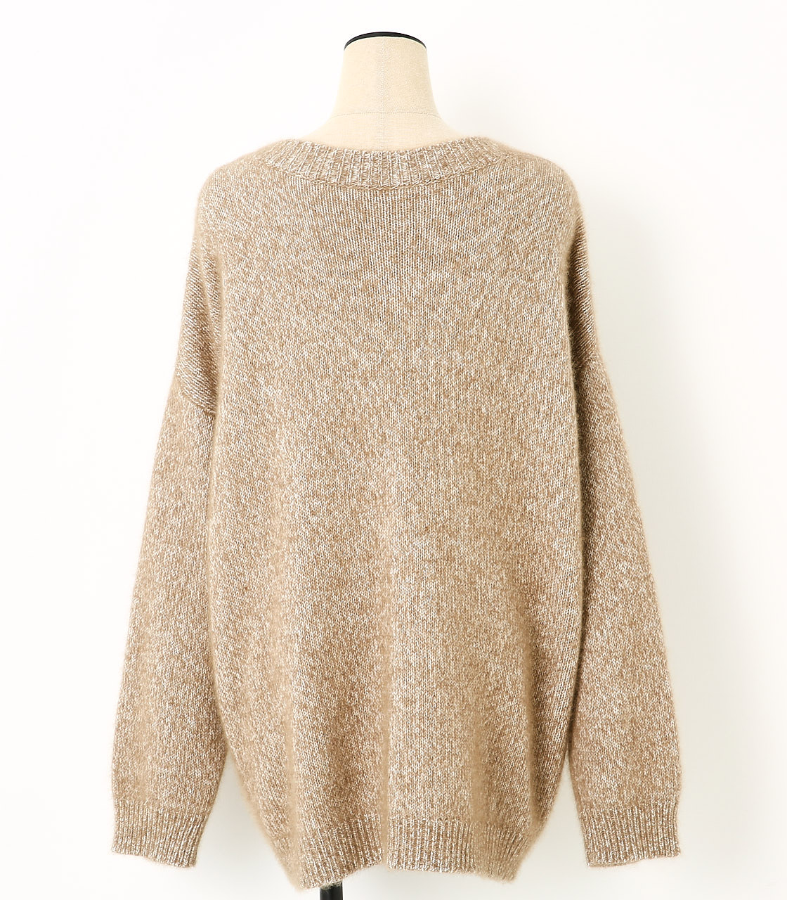 BLACK BY MOUSSY(ブラックバイマウジー) |loose melange knit tops