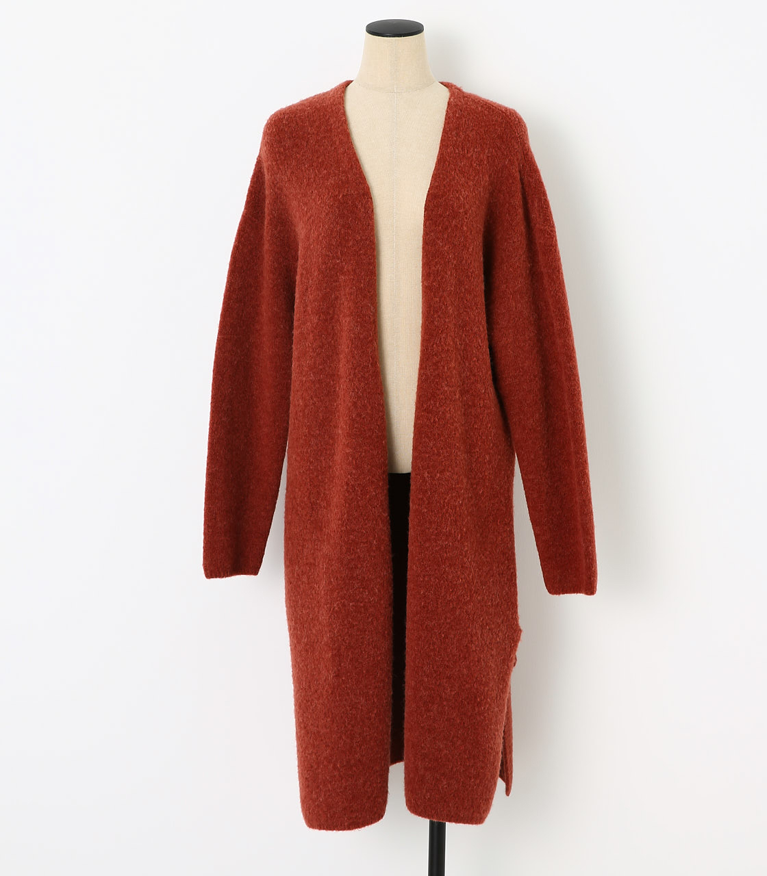 BLACK BY MOUSSY(ブラックバイマウジー) |loose knit cardigan(RED)