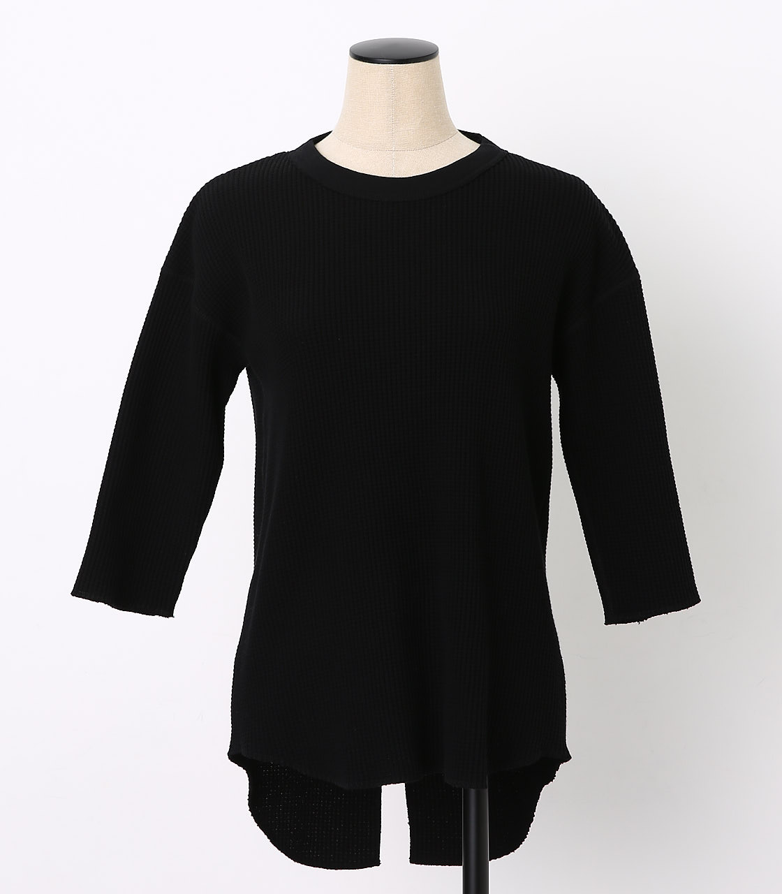 BLACK BY MOUSSY(ブラックバイマウジー) |backless waffle tops(BLK)
