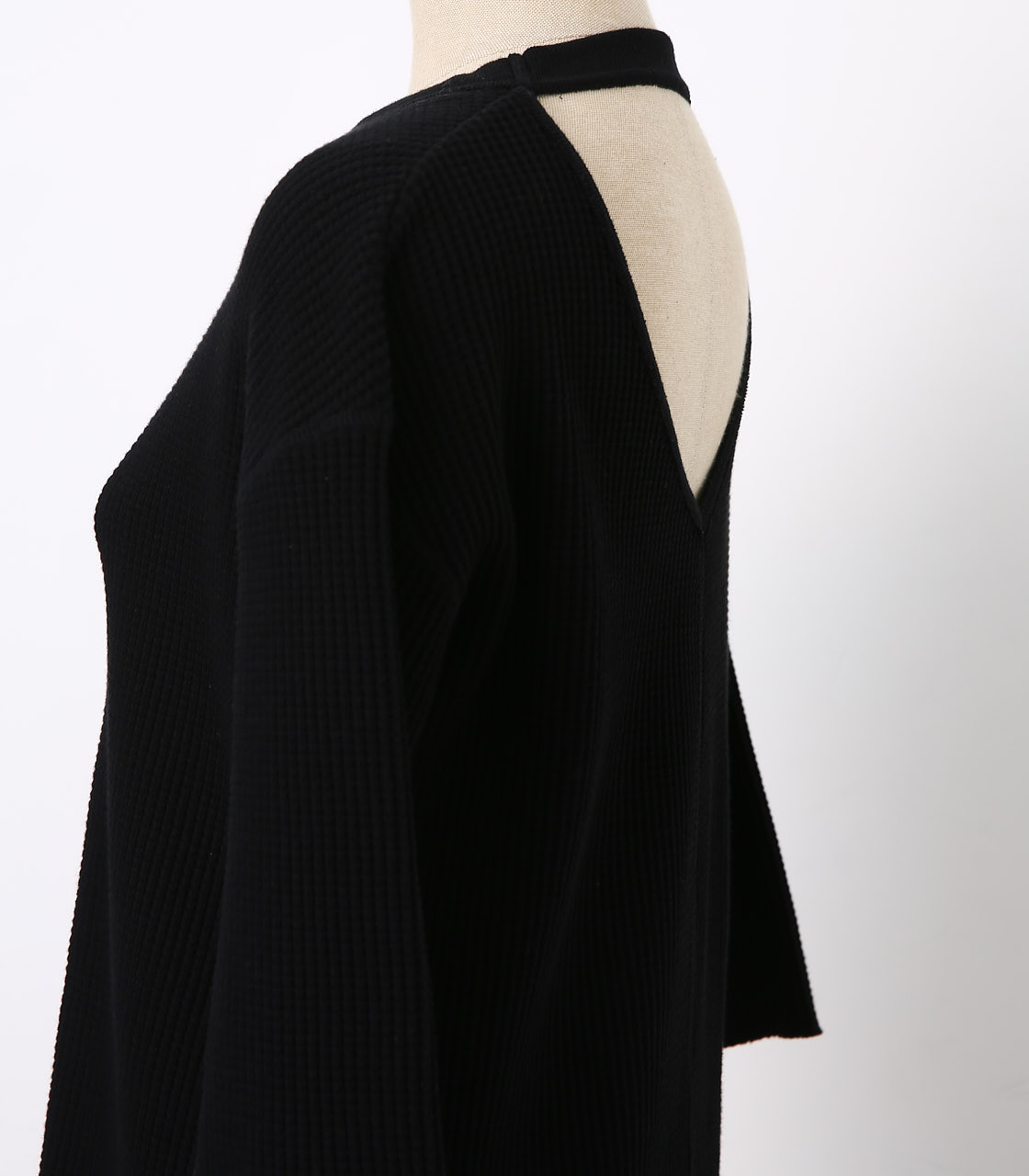 BLACK BY MOUSSY(ブラックバイマウジー) |backless waffle tops