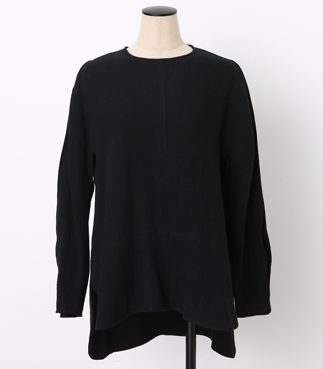 BLACK BY MOUSSY(ブラックバイマウジー) |cocoon sleeve ramie tops(BLK)