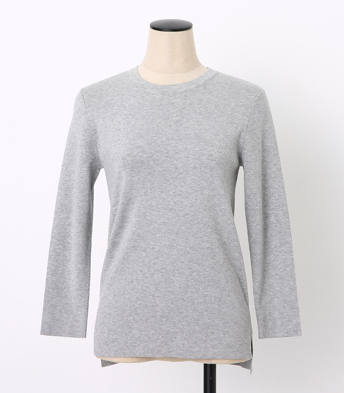 BLACK BY MOUSSY(ブラックバイマウジー) |washable longsleeve tops(GRY)