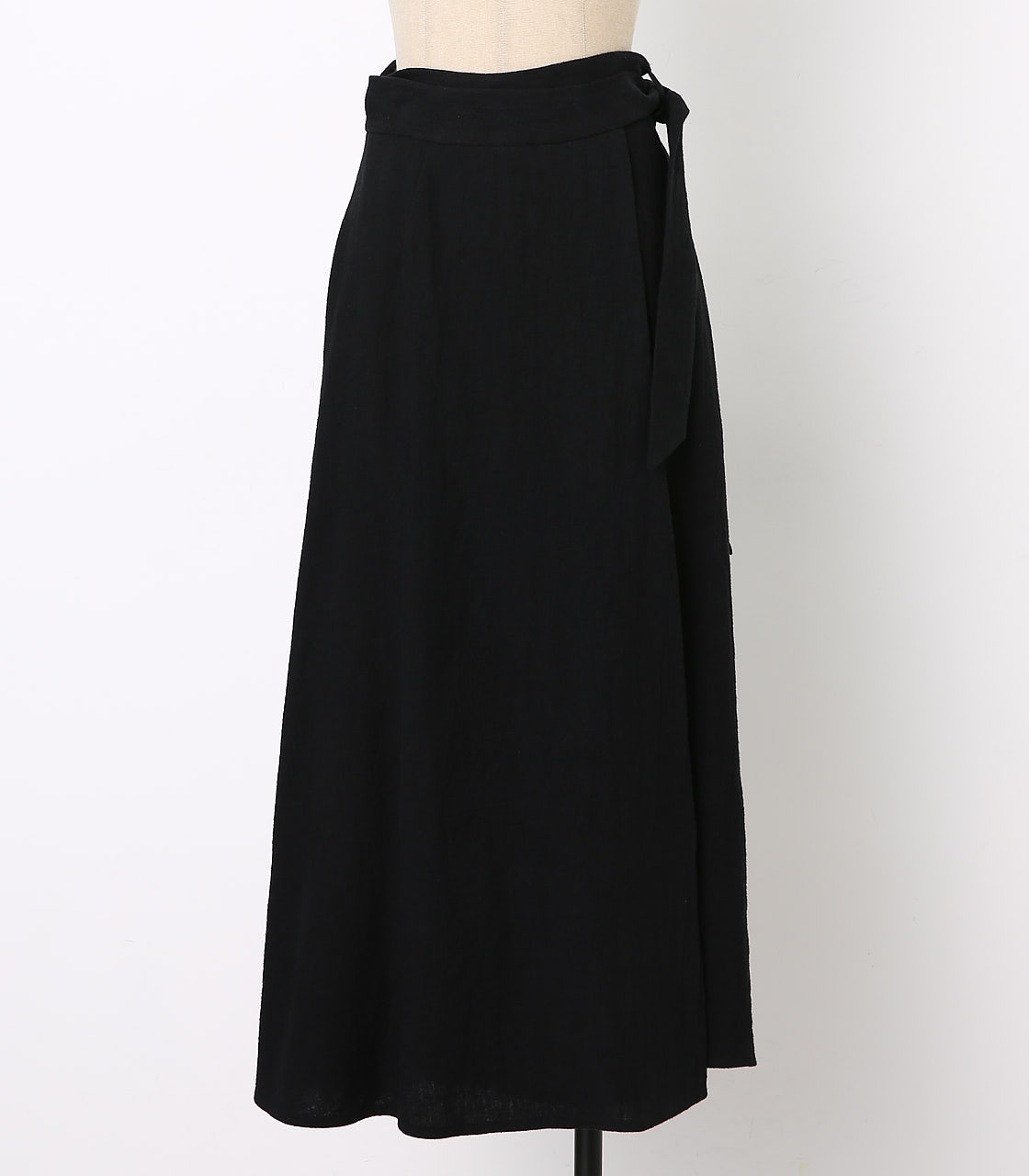 BLACK BY MOUSSY(ブラックバイマウジー) |wrap long sk(BLK)