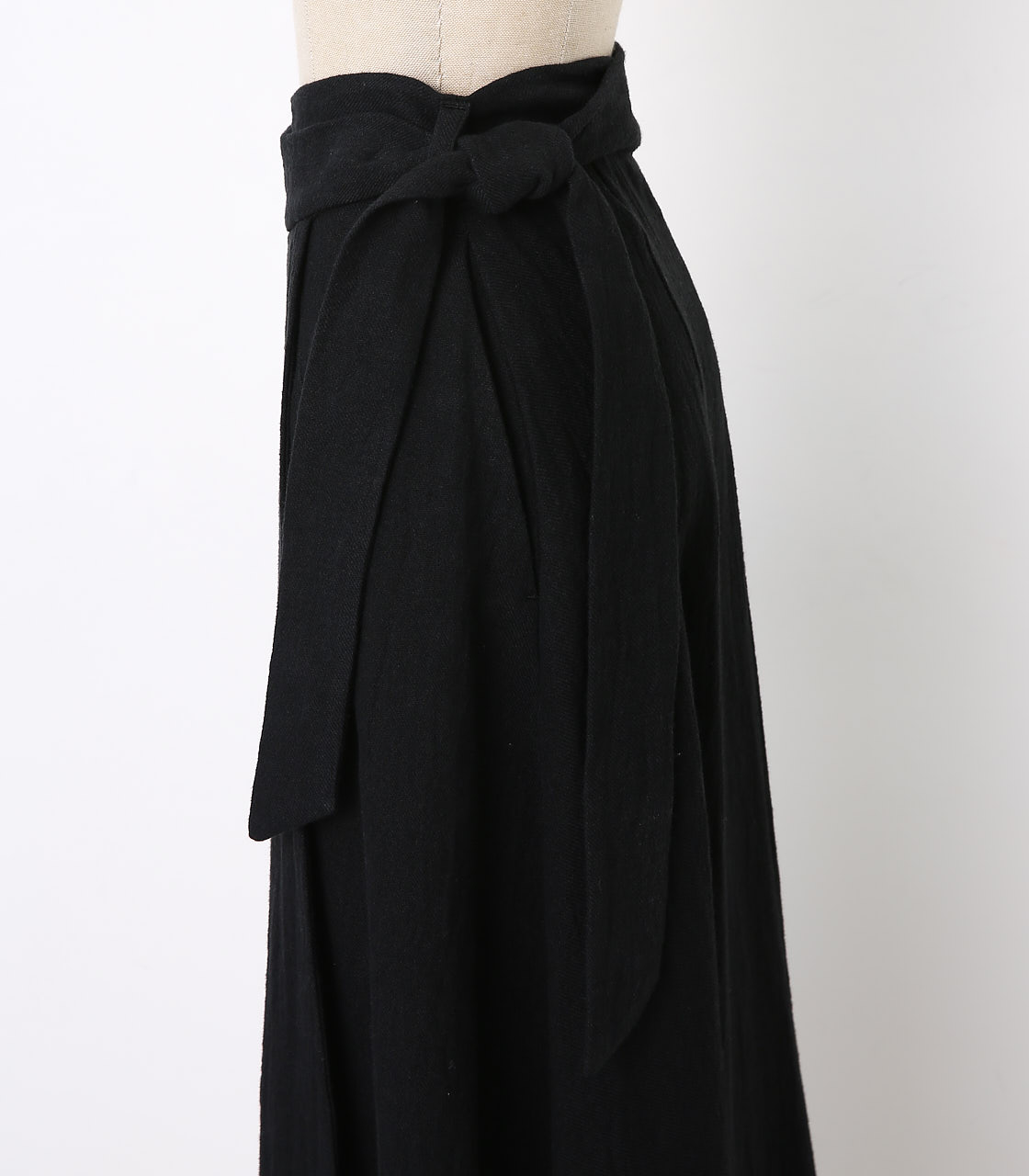 BLACK BY MOUSSY(ブラックバイマウジー) |wrap long sk