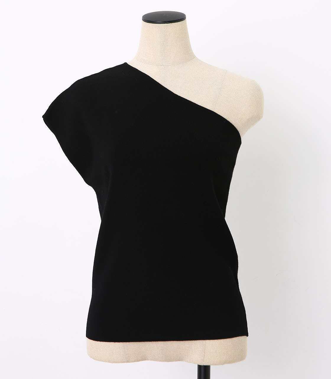BLACK BY MOUSSY(ブラックバイマウジー) |washable one shoulder tops(BLK)