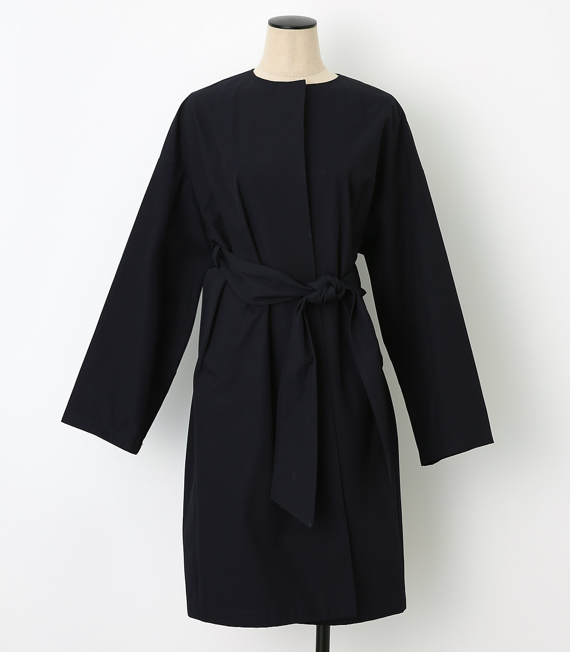 BLACK BY MOUSSY(ブラックバイマウジー) |no collar plain trench(NVY)