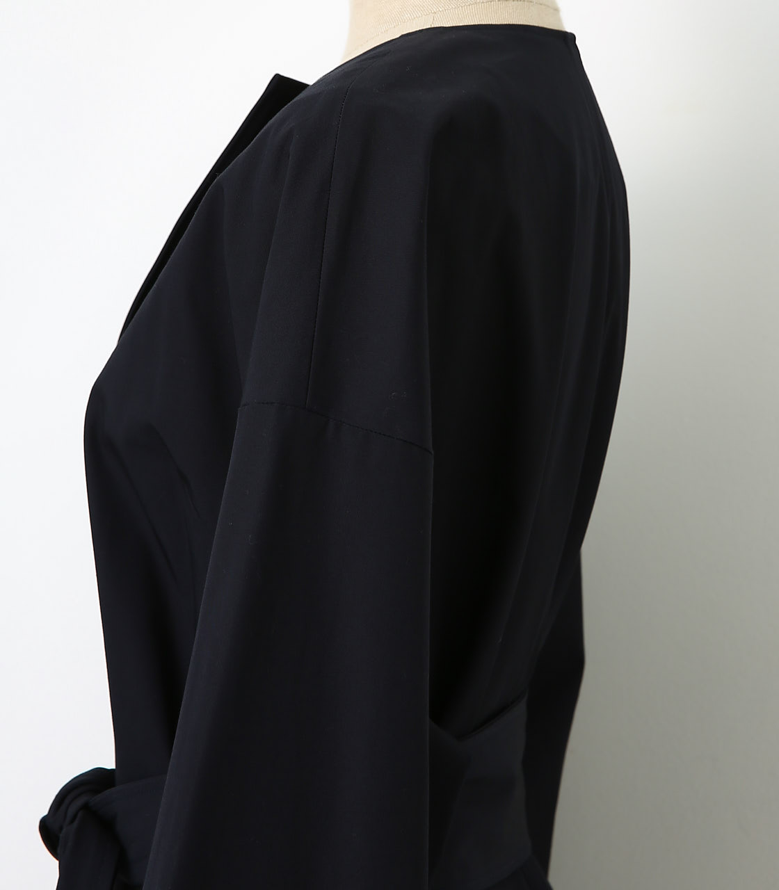 BLACK BY MOUSSY(ブラックバイマウジー) |no collar plain trench