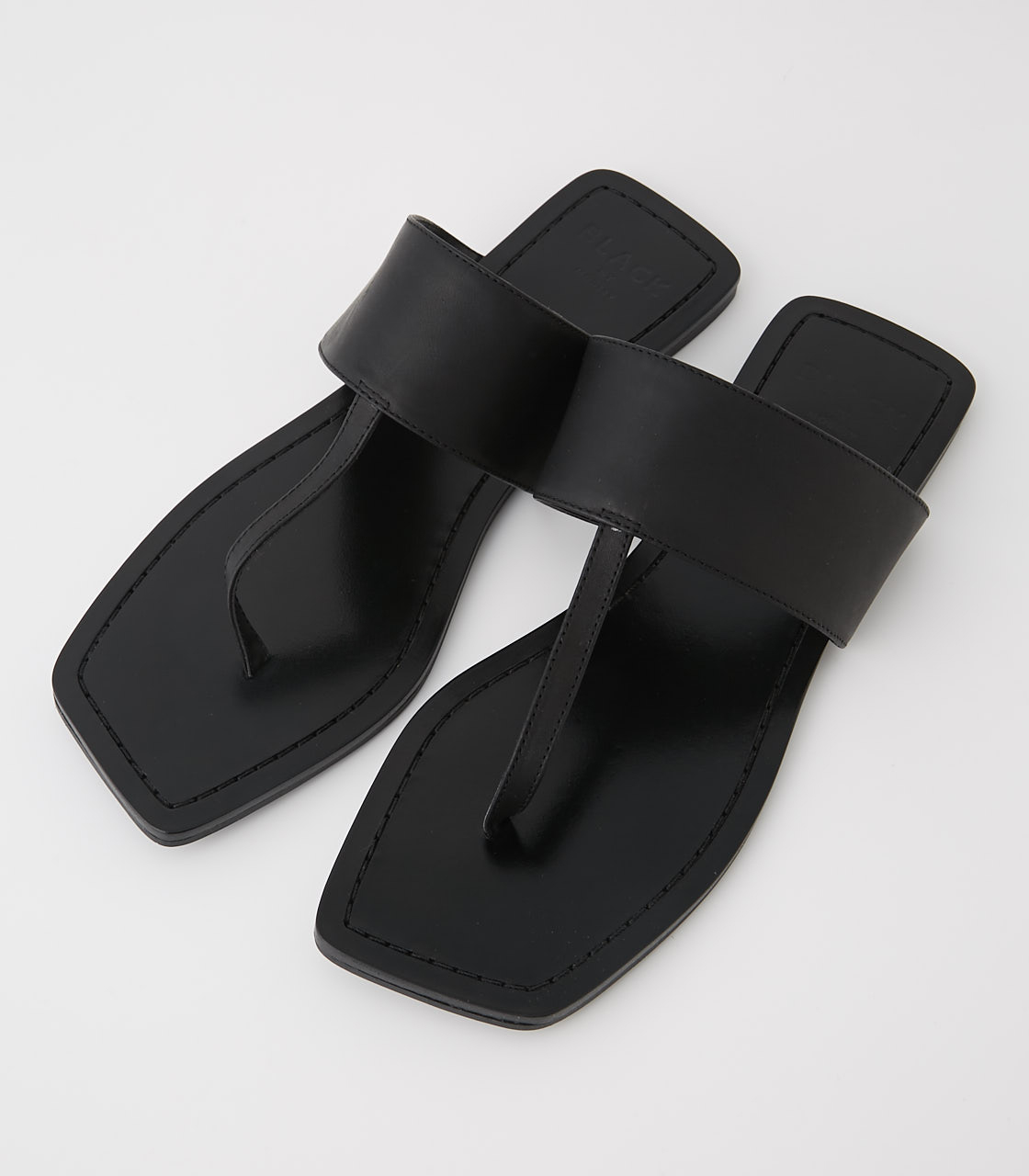 BLACK BY MOUSSY(ブラックバイマウジー) |square insole sandal(BLK)