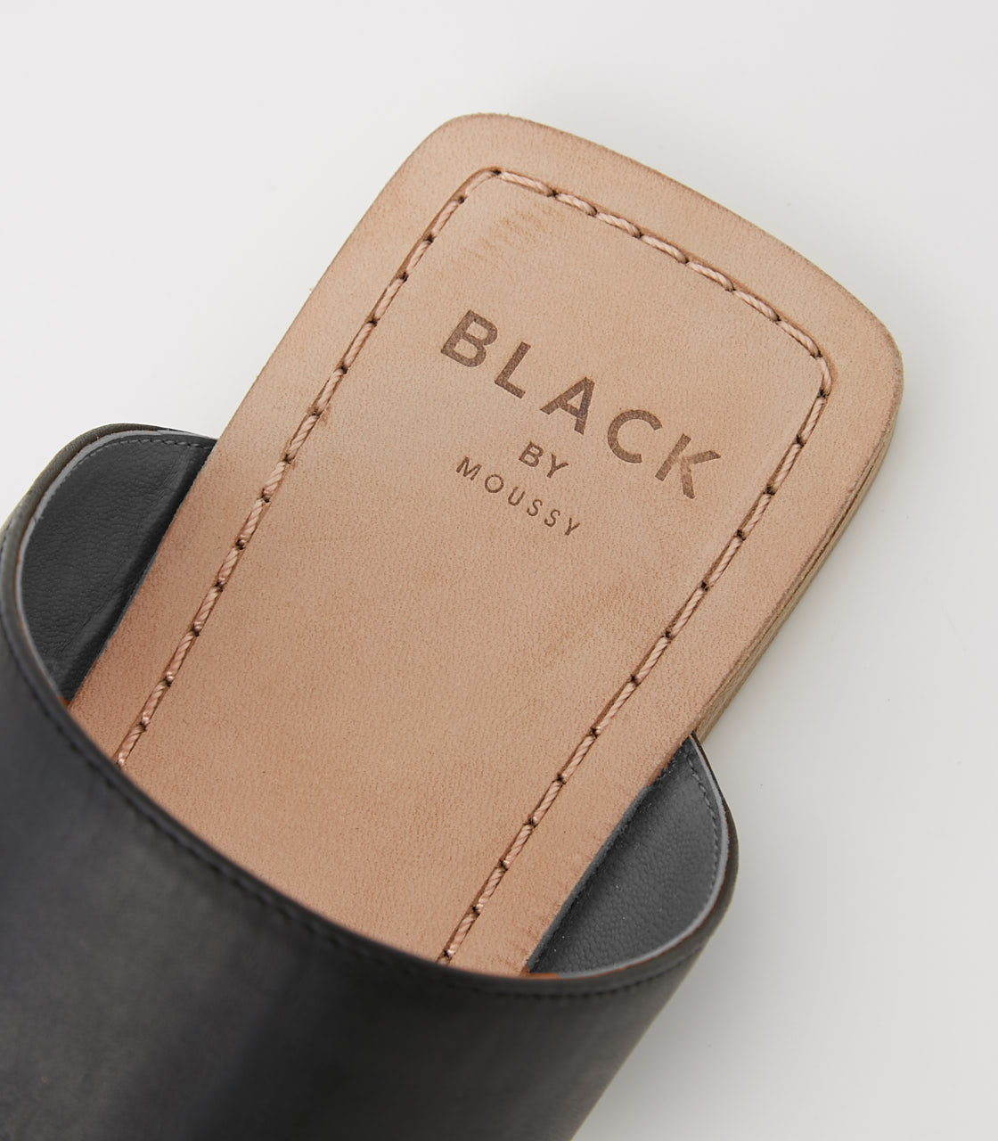 BLACK BY MOUSSY(ブラックバイマウジー) |square insole sandal