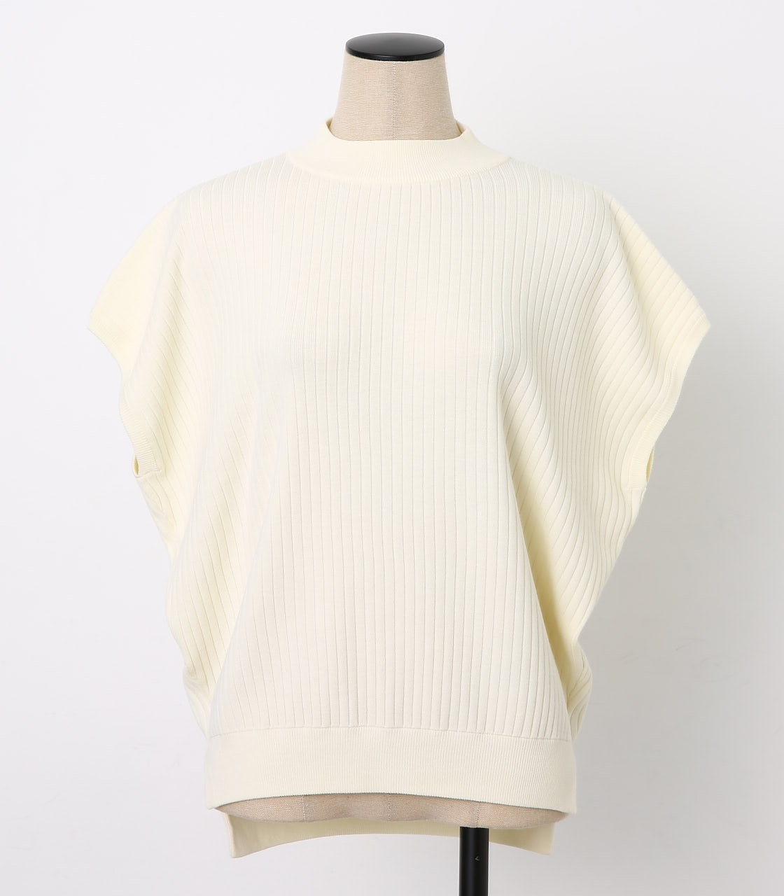 BLACK BY MOUSSY(ブラックバイマウジー) |washable yacco rib tops(O/WHT)