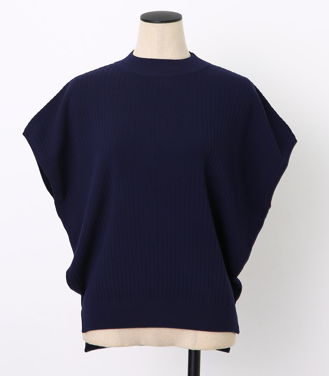 BLACK BY MOUSSY(ブラックバイマウジー) |washable yacco rib tops(NVY)
