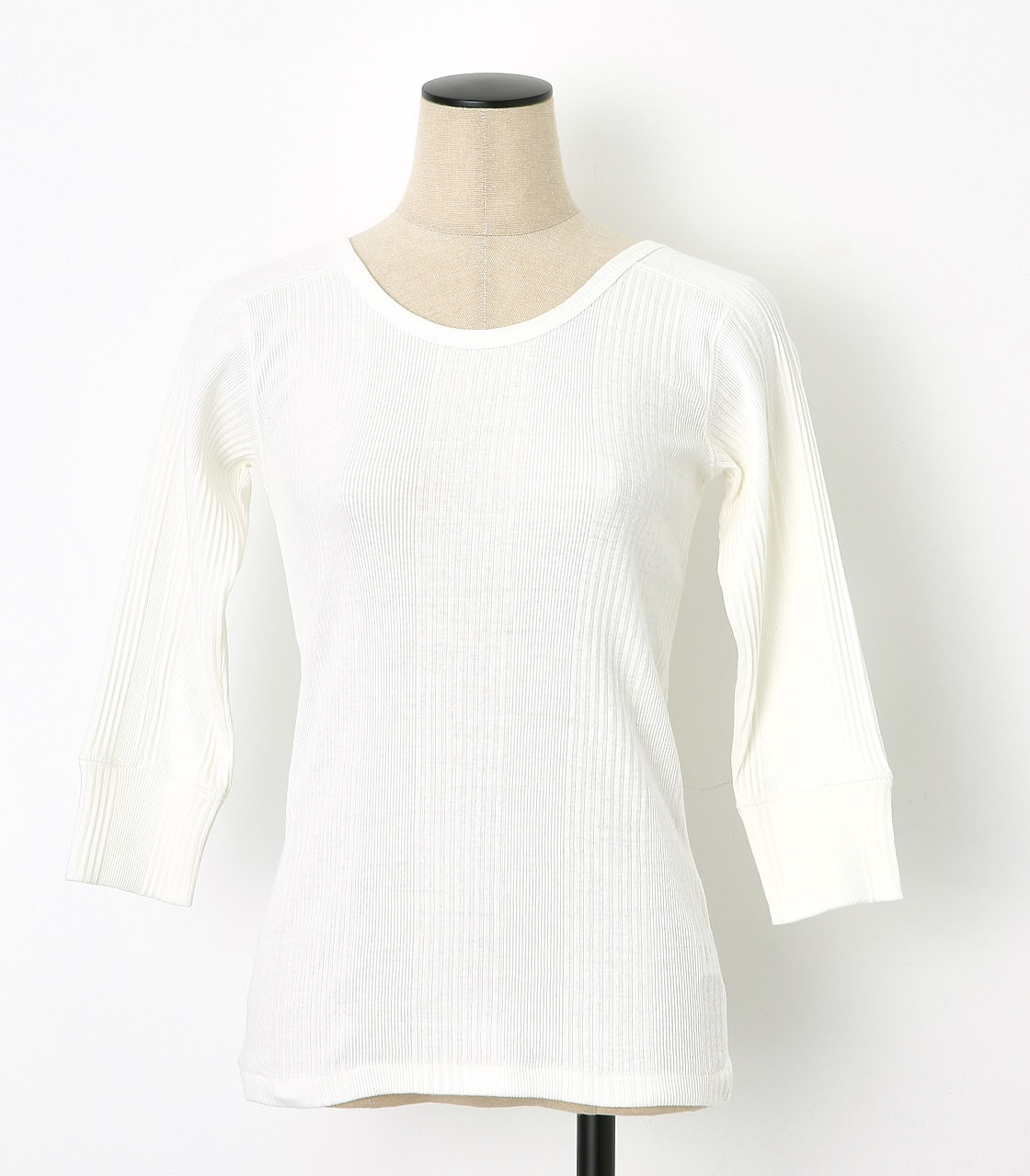 BLACK BY MOUSSY(ブラックバイマウジー) |2way randam rib tops(WHT)