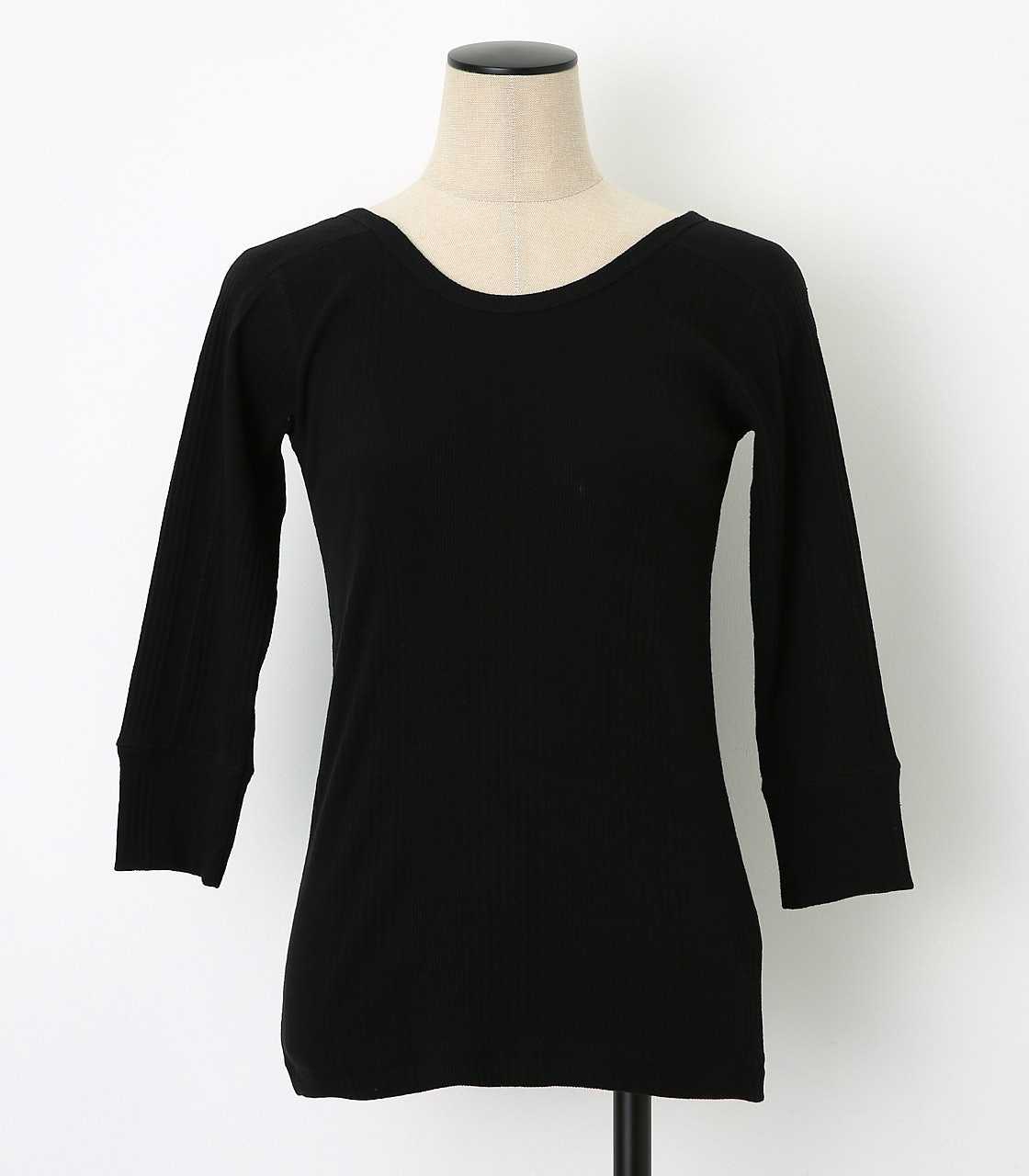 BLACK BY MOUSSY(ブラックバイマウジー) |2way randam rib tops(BLK)