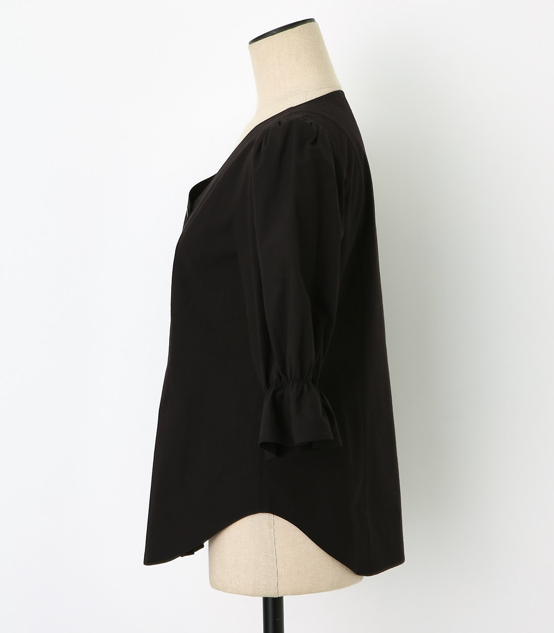 BLACK BY MOUSSY(ブラックバイマウジー) |gather v neck 7sleeve sh