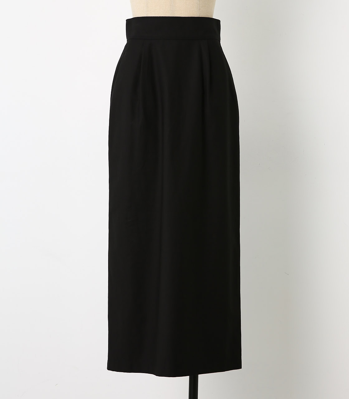 BLACK BY MOUSSY(ブラックバイマウジー) |back satin long sk(BLK)