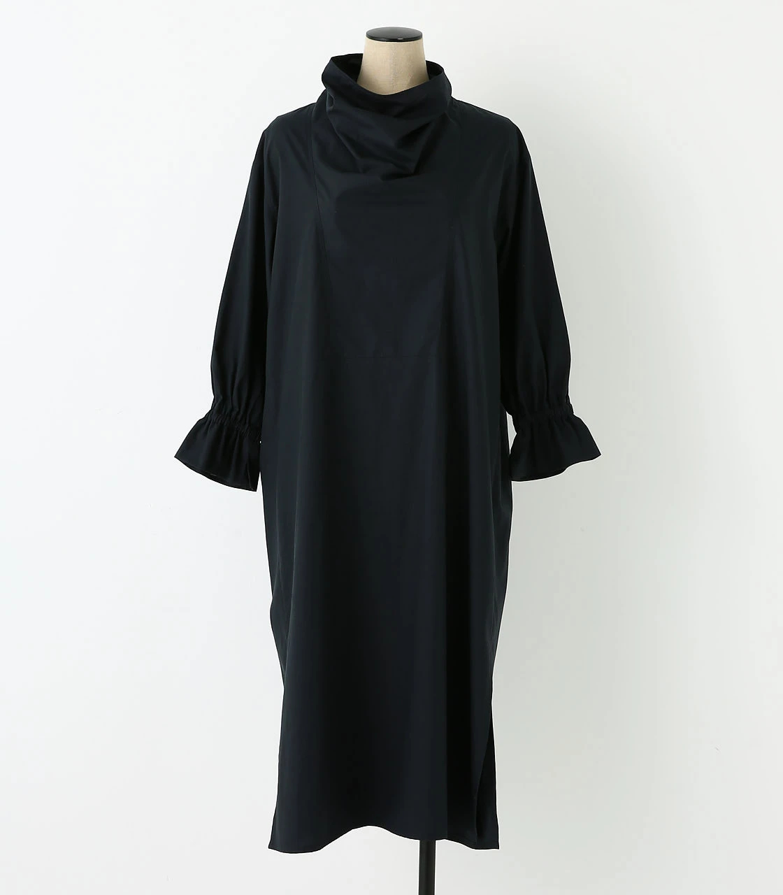 BLACK BY MOUSSY(ブラックバイマウジー) |2way stand collar sh op (BLK)